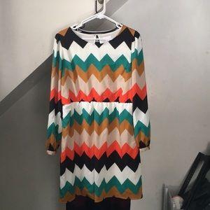 Xhilaration Chevron Dress